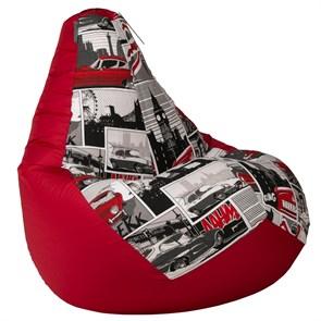 Кресло-мешок-груша Ягуар красный XL - фото 5016