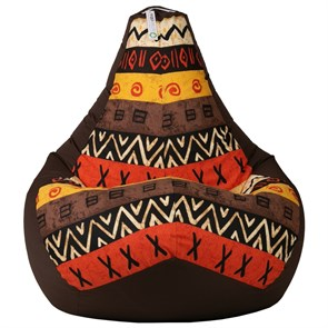 Кресло-мешок Африка коричневый XXL