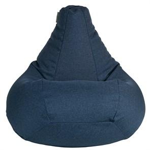 Кресло мешок из Жаккарда синий XXL