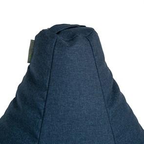 Кресло-мешок-груша из Жаккарда синий XXL - фото 5069