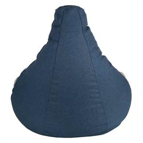Кресло-мешок-груша из Жаккарда синий XXL - фото 5070