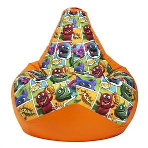 Кресло-мешок Монстры оранжевый XL