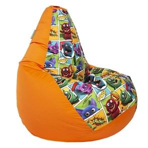 Кресло-мешок-груша Монстры оранжевый XL - фото 5084