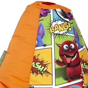 Кресло-мешок-груша Монстры оранжевый XL - фото 5085