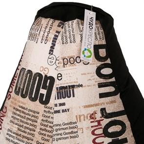 Кресло-мешок-груша Газета черный XXL - фото 5148