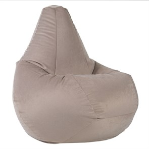 Кресло-мешок-груша из Велюра бежевый XL - фото 5184