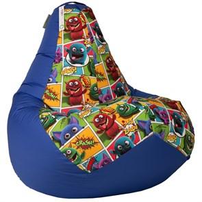 Кресло-мешок-груша Монстры cиний XL - фото 5206