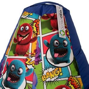 Кресло-мешок-груша Монстры cиний XL - фото 5207