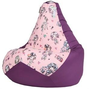 Кресло-мешок-груша Герлс фиолетовый XXL - фото 5253