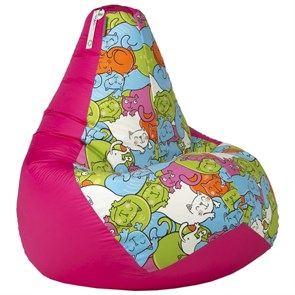 Кресло-мешок Кошки розовый XL - фото 5278