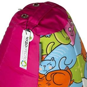 Кресло-мешок Кошки розовый XL - фото 5279