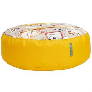 Пуфик детский Мишки желтый 55*25 - фото 5294