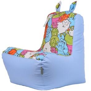 Детское кресло-ушастик Кошки голубой XL - фото 5426