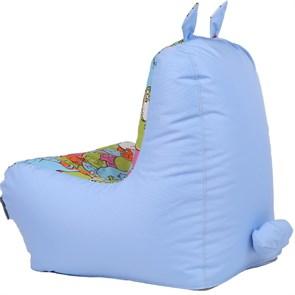 Детское кресло-ушастик Кошки голубой XL - фото 5429