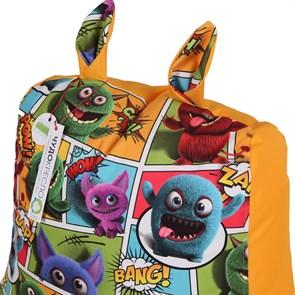Кресло детское-ушастик Монстры оранжевый XL - фото 5431