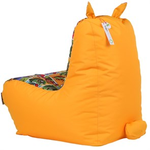 Кресло детское-ушастик Монстры оранжевый XL - фото 5432