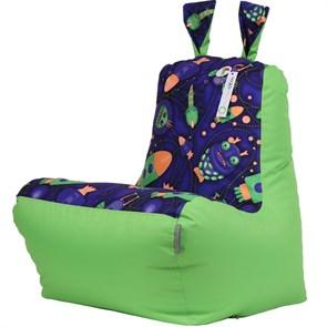 Кресло детское-ушастик Космостарс cалатовый XL - фото 5433
