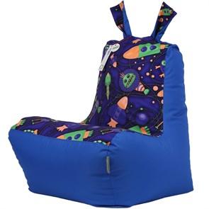 Кресло детское-ушастик Космостарс cиний XL - фото 5437