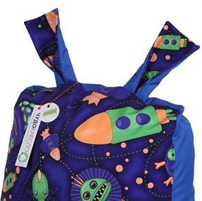 Кресло детское-ушастик Космостарс cиний XL - фото 5438