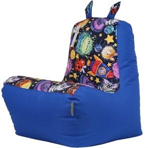 Кресло детское-ушастик Пришельцы синий XL - фото 5440