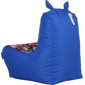 Кресло детское-ушастик Пришельцы синий XL - фото 5441