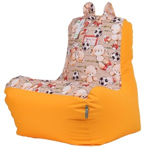Детское кресло-ушастик Мишки желтые XL - фото 5442
