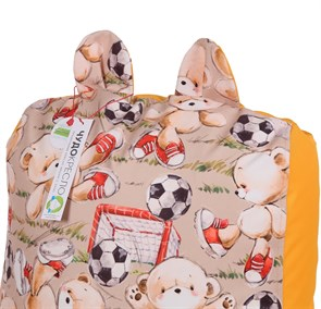Детское кресло-ушастик Мишки желтые XL - фото 5443