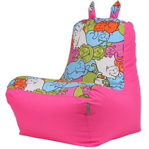 Кресло детское-ушастик Кошки розовый XL - фото 5445