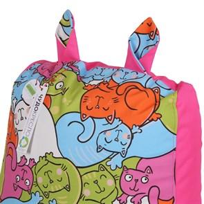Кресло детское-ушастик Кошки розовый XL - фото 5446