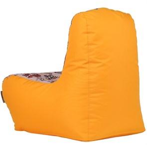 Детское кресло-ушастик Машинки желтые XL - фото 5450