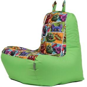 Кресло детское-ушастик Монстры салатовый XL - фото 5452