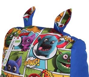 Кресло детское-ушастик Монстры синий XL - фото 5456