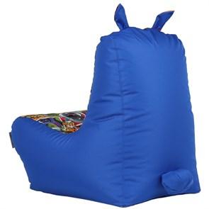 Кресло детское-ушастик Монстры синий XL - фото 5457