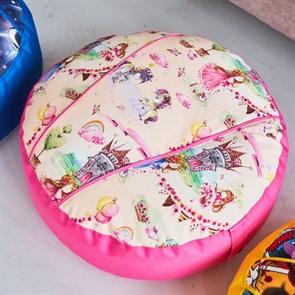 Пуфик детский Принцесски розовый 55*25
