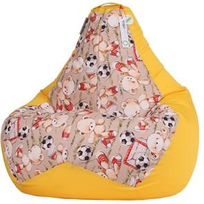 Кресло-мешок Мишки желтый L - фото 5481