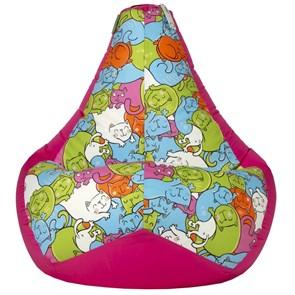Кресло-мешок Кошки розовый XL