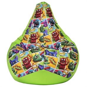 Кресло-мешок-груша Монстры салатовый XL - фото 5489