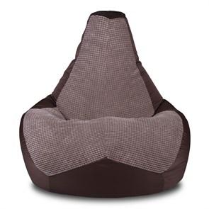 Кресло-мешок-груша Сенс коричневый XXL