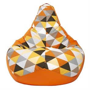Кресло-мешок-груша Солнце Оранжевый XL - фото 5550