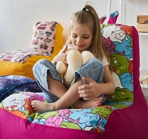 Кресло детское-ушастик Кошки розовый XL - фото 5583