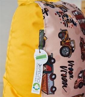 Детское кресло-ушастик Машинки желтые XL - фото 5587