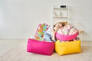 Кресло детское-ушастик Монстры синий XL - фото 5592
