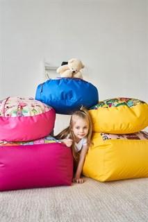 Кресло детское-ушастик Монстры оранжевый XL - фото 5593
