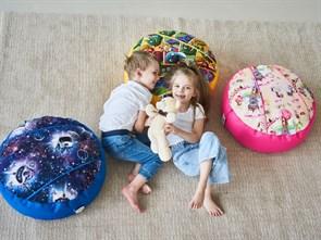 Кресло детское-ушастик Монстры оранжевый XL - фото 5595