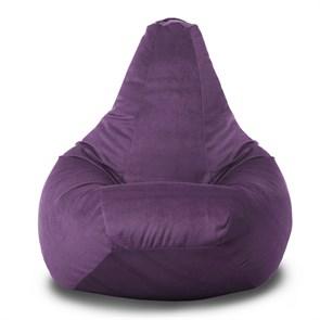 Кресло-мешок-груша из Велюра фиолетовый XXL - фото 5658