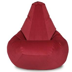 Кресло-мешок-груша Велюр бордовый XXL