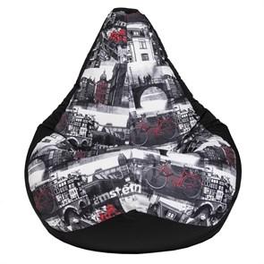 Кресло-мешок-груша Амстердам черный XXL