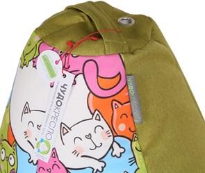 Кресло-мешок-груша Кошки Микс Зеленый XXL - фото 5709
