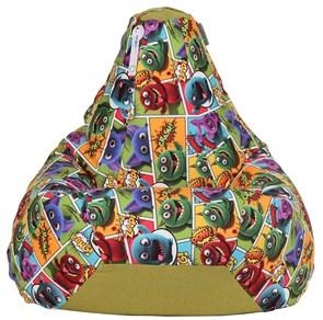 Кресло-мешок-груша Монстры Микс Зеленый XXL