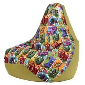 Кресло-мешок-груша Монстры Микс Зеленый XXL - фото 5719